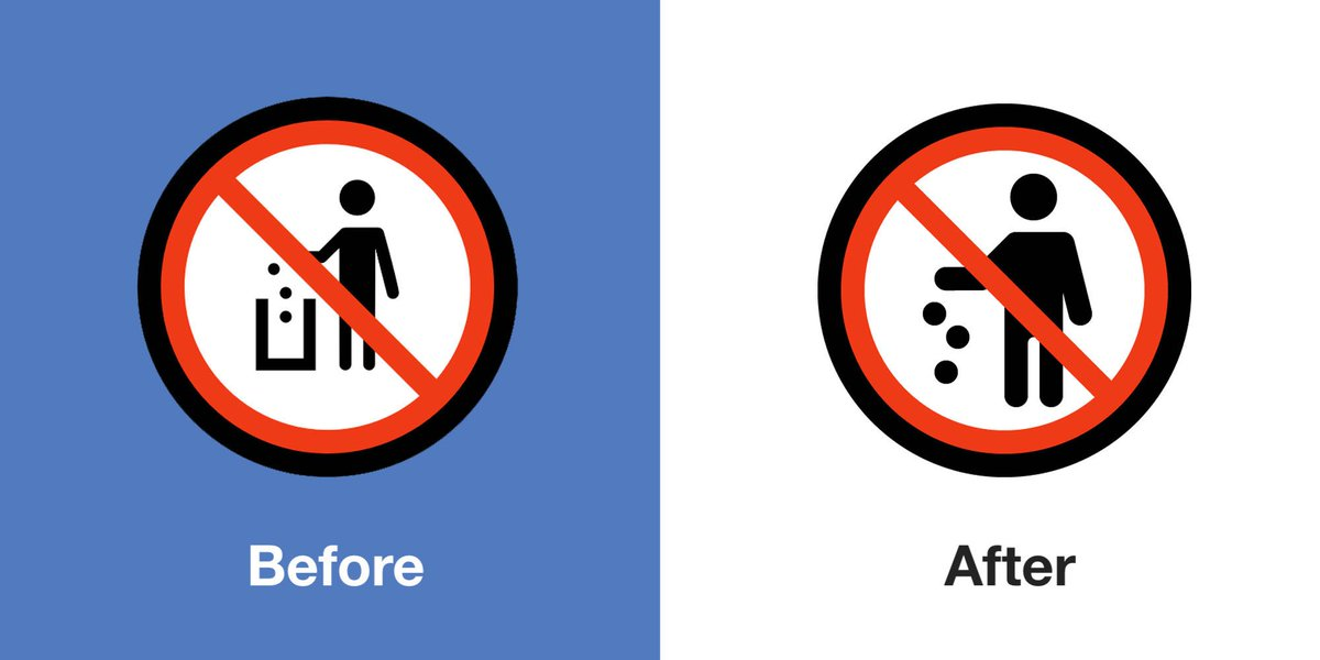 Emojipedia On Twitter No Littering Sign Now Bans Littering