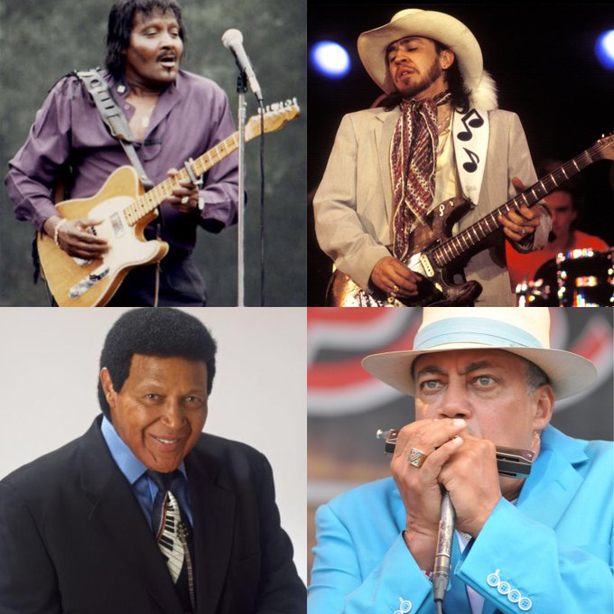 Happy Birthday, Albert Collins, Stevie Ray Vaughan, Chubby Checker and Billy Branch!