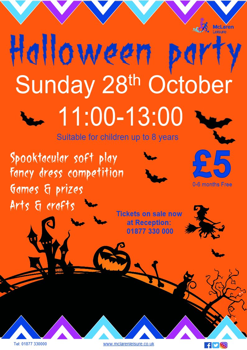 Tickets still available for the wee ones on the morning of 28th for our spooktacular party, followed by… https://t.co/o650TG0kIQ