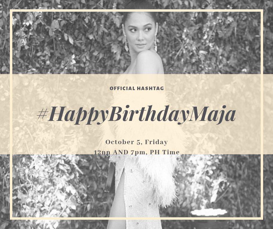 Happy birthday to Maja Salvador!  Sasamahan Kita By Loisa Andalio