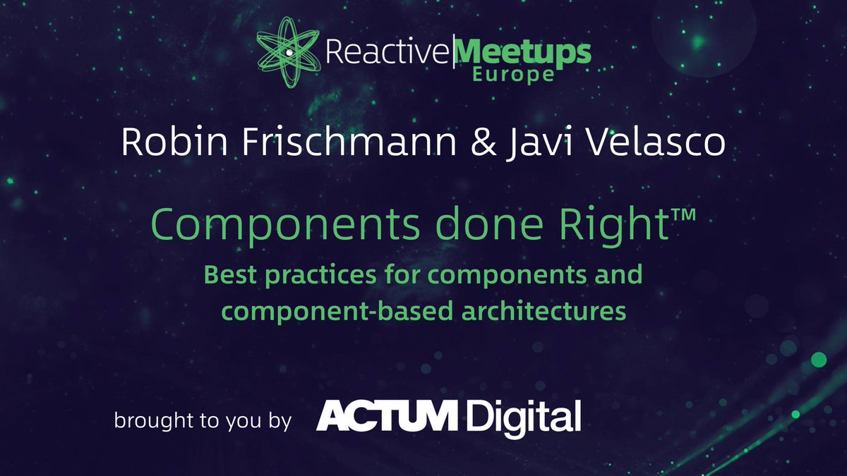 We really enjoyed Reactive Meetups vol. 4. The lecture is available here: https://t.co/HpXUP5iBFy   #reactivemeetups #react #ACTUMpeople https://t.co/MlWP9AYE5E