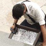 Image for the Tweet beginning: Singaporean artist Seelan Palay has
