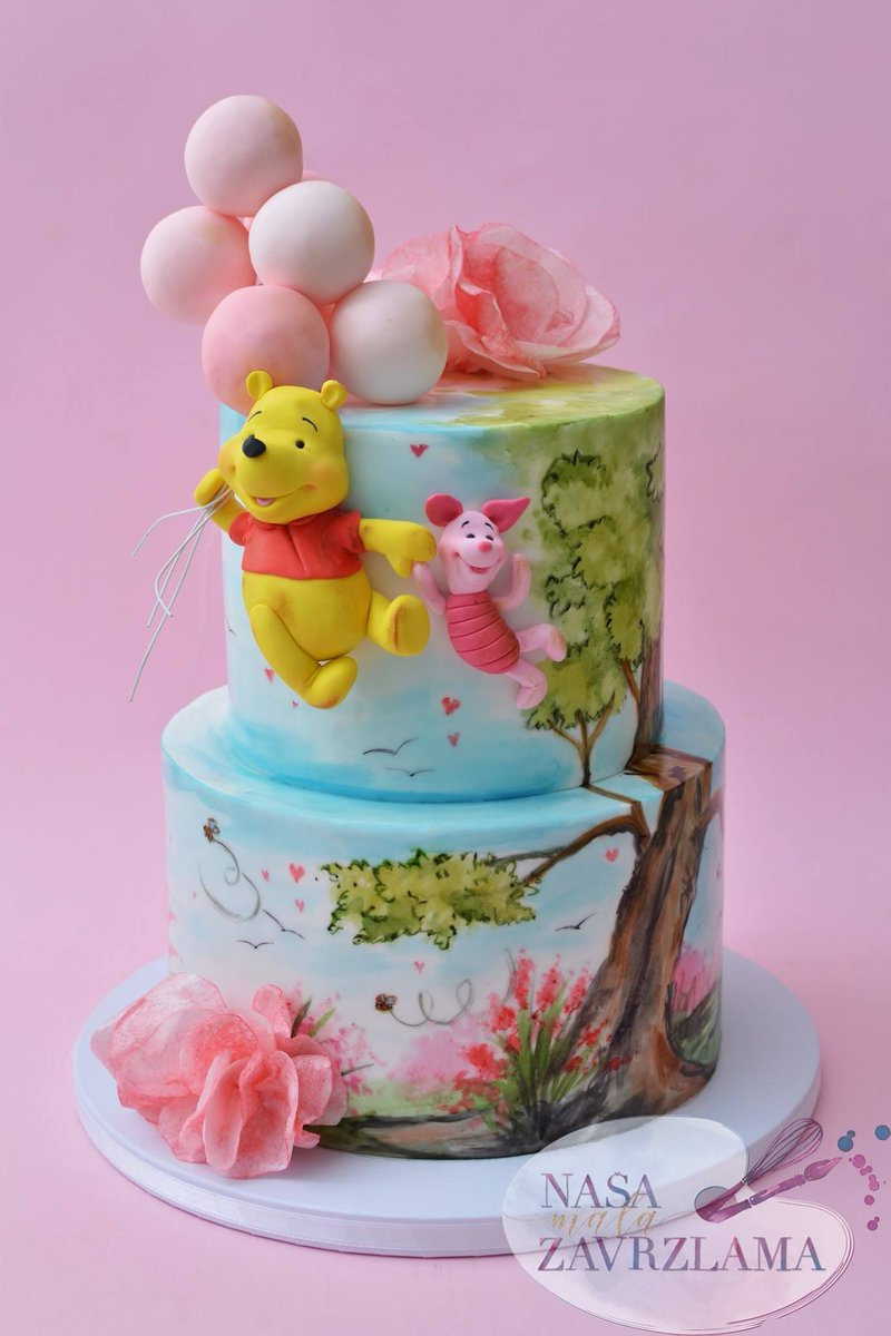 Tremendous Acd On Twitter Adorable Winnie The Pooh Birthday Cake By Nasa Funny Birthday Cards Online Alyptdamsfinfo