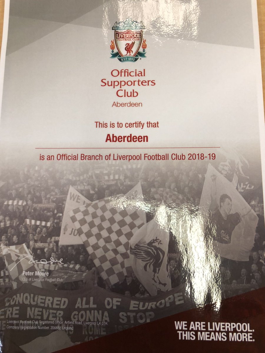 fc734f9e0 Aberdeen Official Liverpool Supporters Club ( AOLSC)