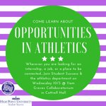 Calling all Undeclared, Sport Management, Sport Communication, Business Administration, and Marketing majors...The Athletics Team would love to meet you and connect with you today at 11am in Cottrell Hall. Come see about the ways you can get involved with the department. #HPU365