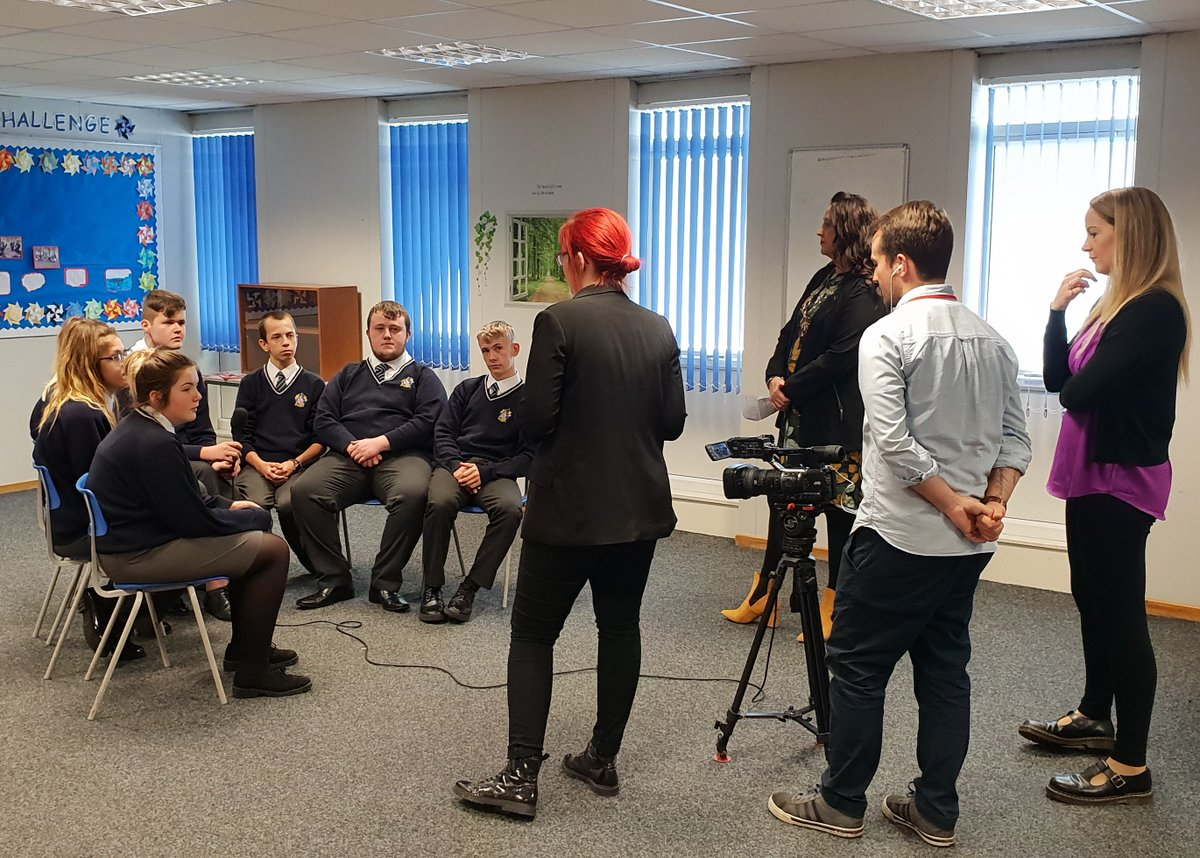 📺Thank you to @LSLocalTV for joining us today in the academy to interview our Roving Reporters on the history of Featherstone project they completed last academic year. We will keep you posted on the air date @GoHigherWY #WeAreNCOP @Fevcommunity @FevRovers
