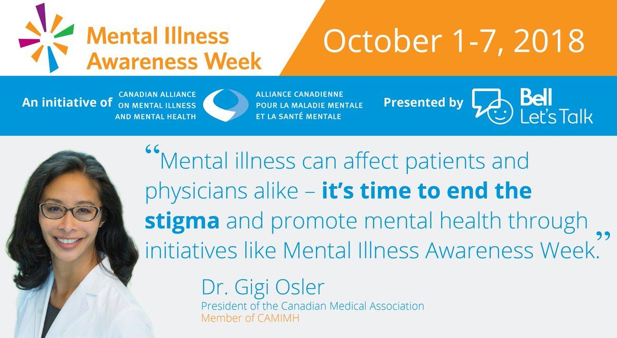 Let's keep talking to help end the stigma surrounding mental illness. #BellLetsTalk #MIAW18