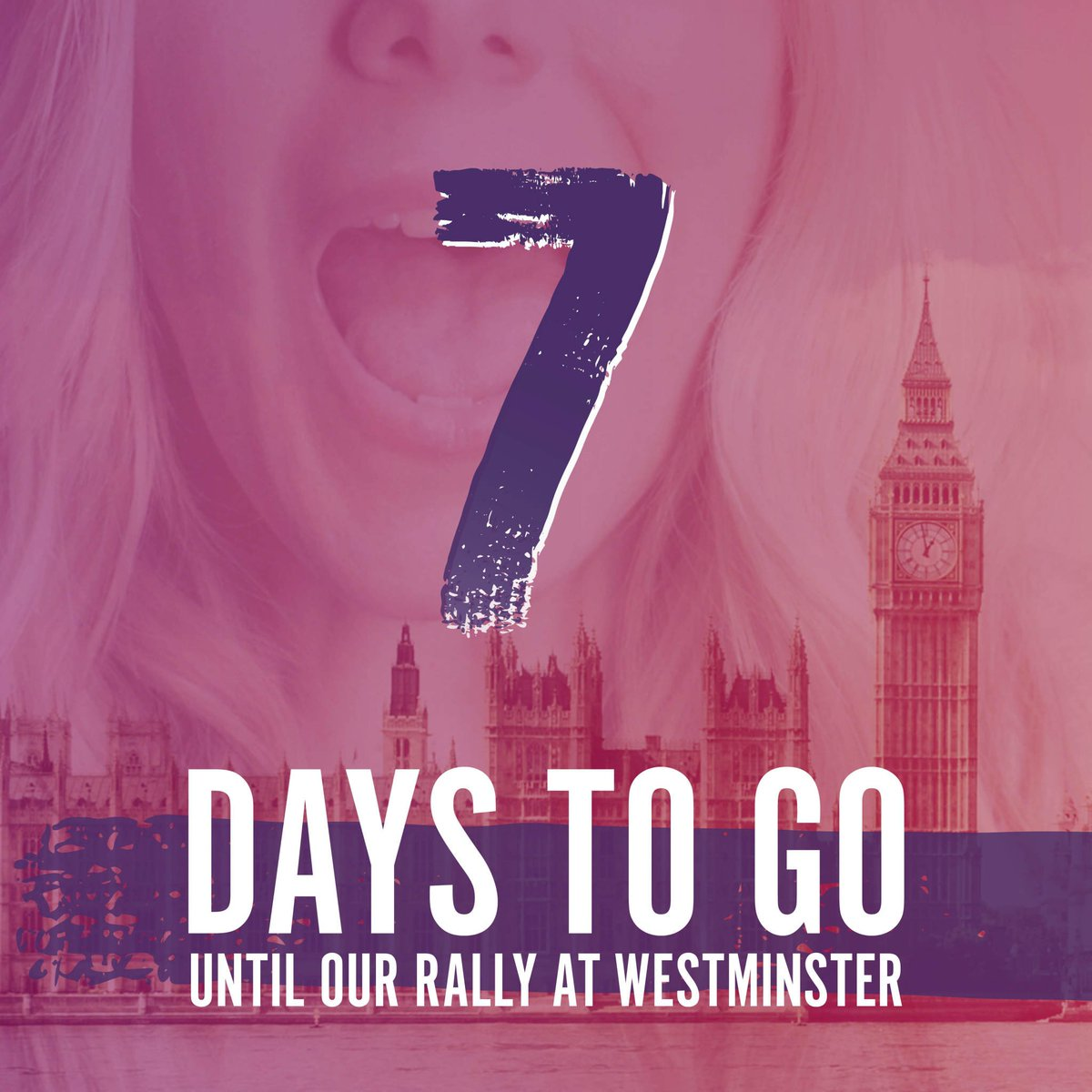 The countdown begins! 7 days to go until our Westminster rally for #FertilityFairness. We only need 22,000 signatures. Share your #Scream4IVF and sign the petition http://bit.ly/Scream4IVF