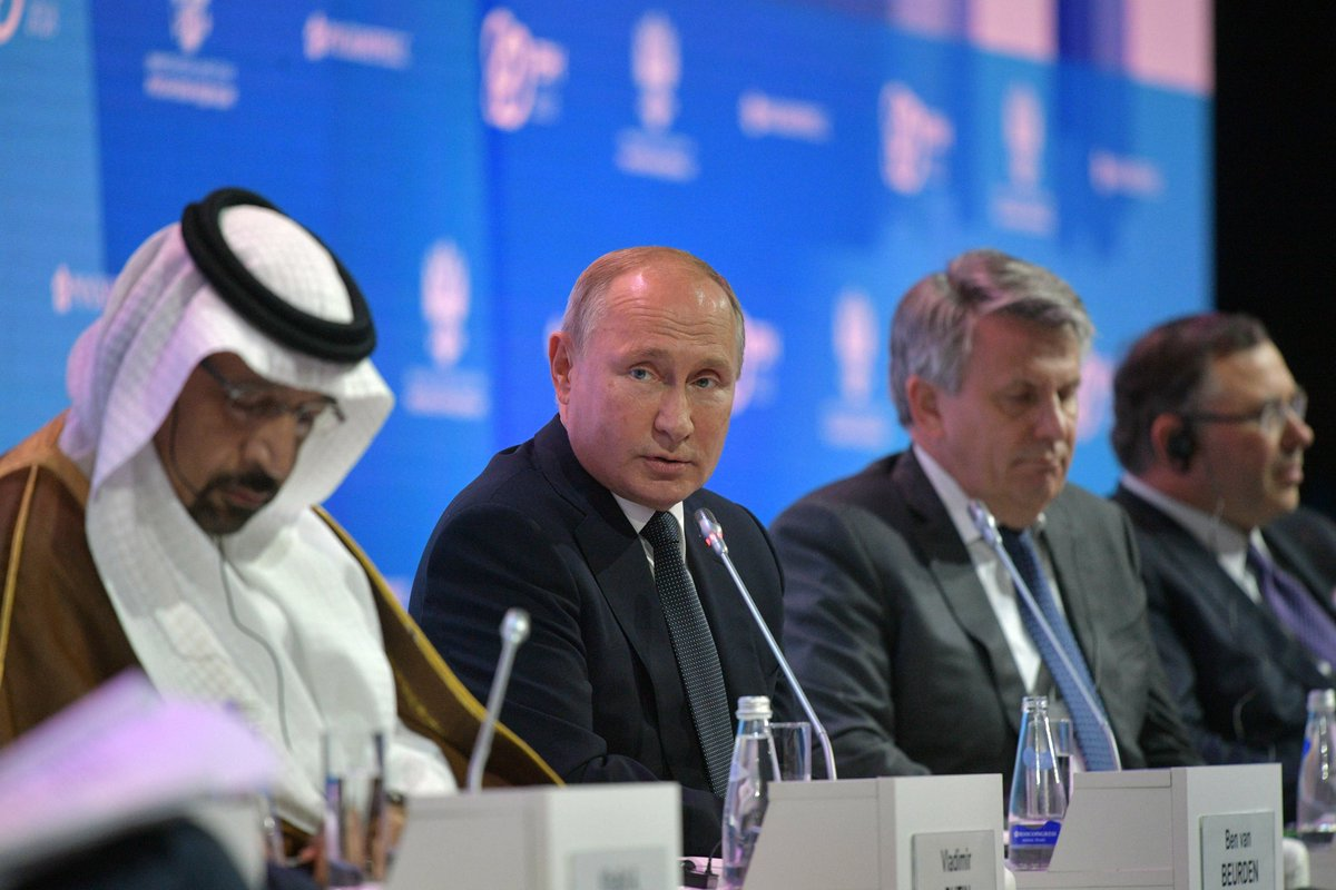 #Moscow #REW2018: The President addressed the Russian Energy Week International Forum https://t.co/AVKfA1Sm51