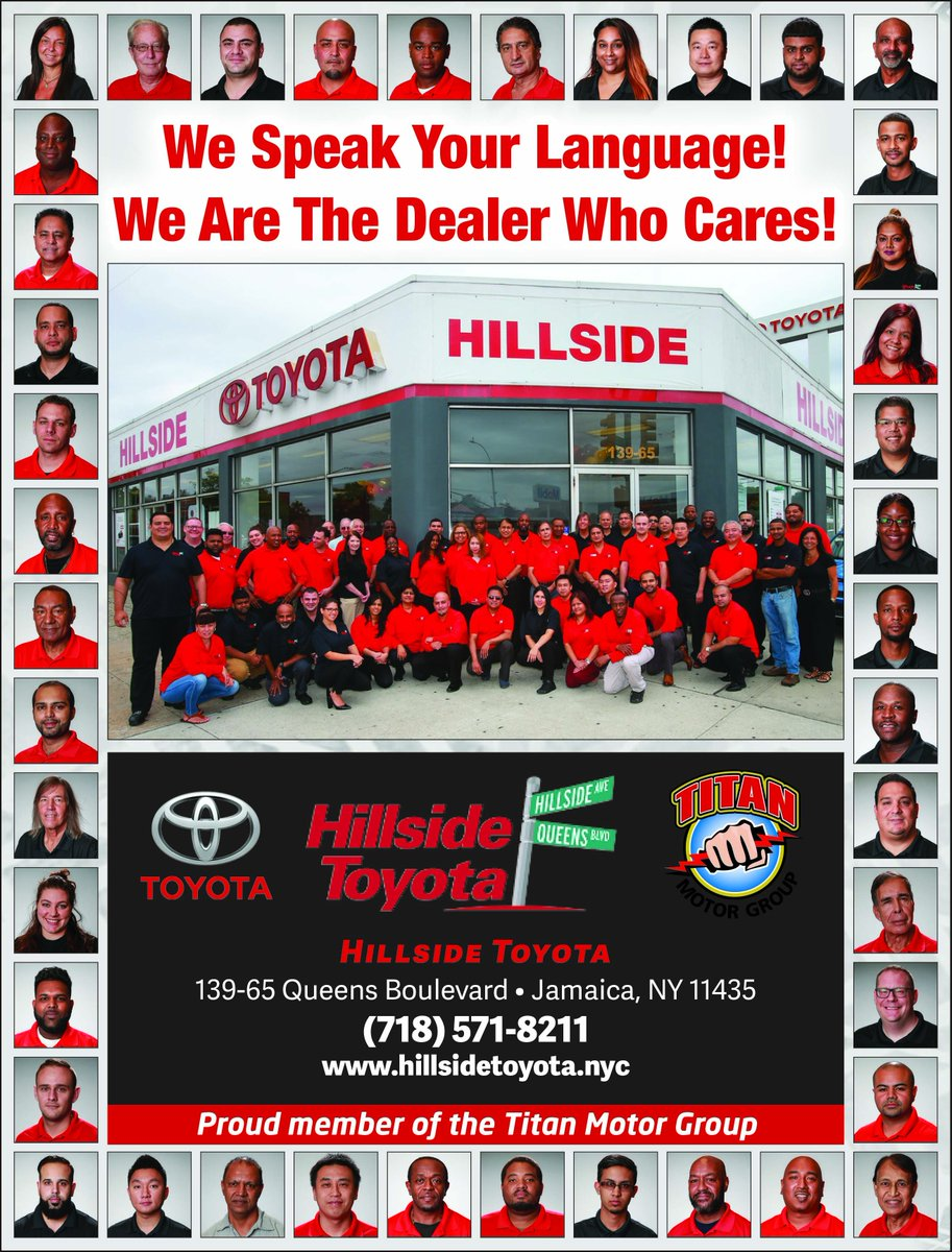 Toyota Dealership Nyc >> Hillside Toyota On Twitter Our Diverse Team Speaks Over 15