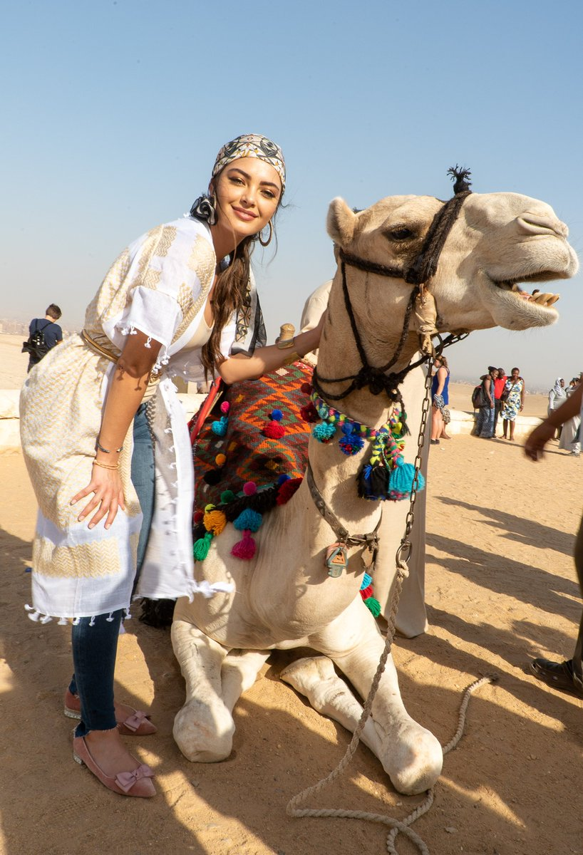 Guess what day it is... #humpday🐪 ☀️ Meet #MissUniverse @DemiLeighNP new best friend: Mr. Charlie Brown.
