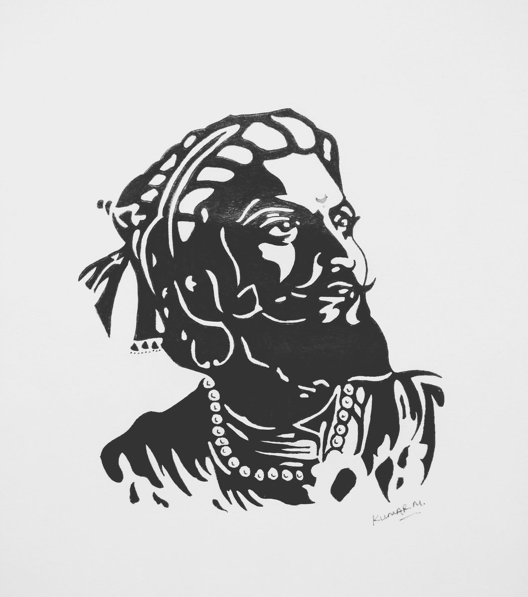 Byme blackpenwork trying shri chatrapati shivaji maharaj sketch art chatrapatishivajimaharaj kumarmsketch