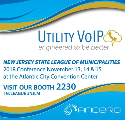 Join us at the 2018 New Jersey League of Municipalities Conference, Nov. 13, 14 & 15 in the Atlantic City Convention center. #UtilityVoIP #Booth2230 #ManagedCommunications @NJ_League #NJLeague #NJLM #localgovernment #AtlanticCity @Meet_AC