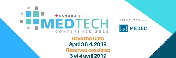 The annual signature conference of MEDEC and the Canadian #MedTech industry will take place on April 3 & 4, 2019 at the International Centre in Mississauga, Ontario. You don't want to miss it! For more information, visit https://www.medec.org/page/CanadaMedTechConf …
