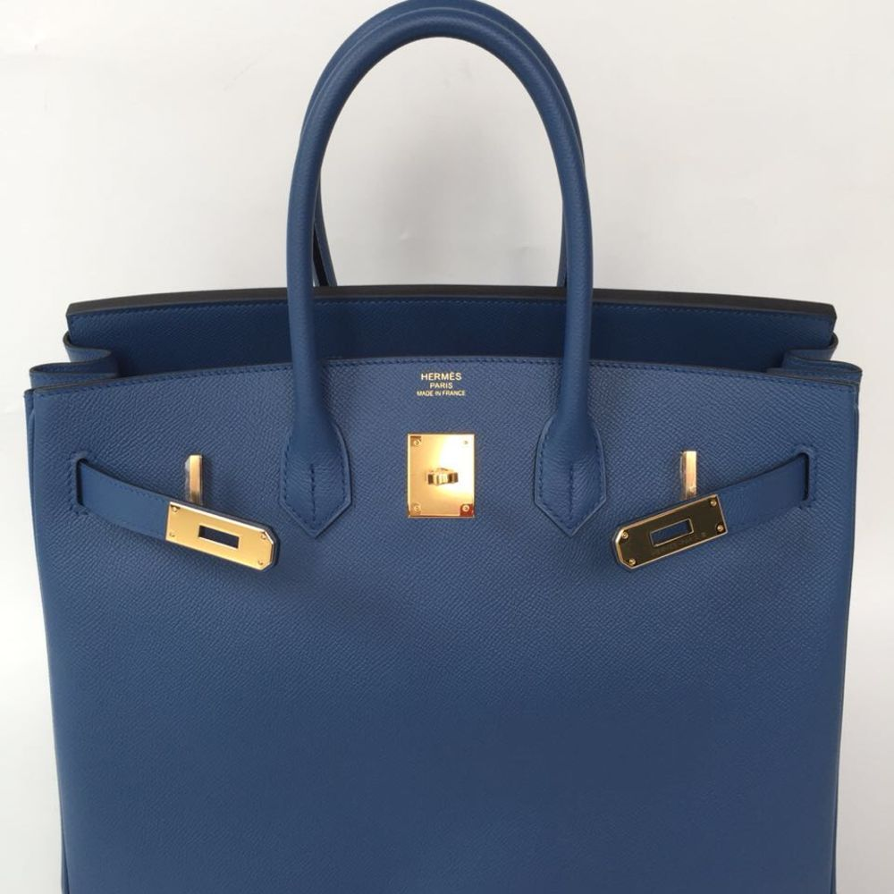 b017a6cad84 ... get the french hunter on twitter birkin 35 bleu agate epsom ghw c  hermes birkin kelly