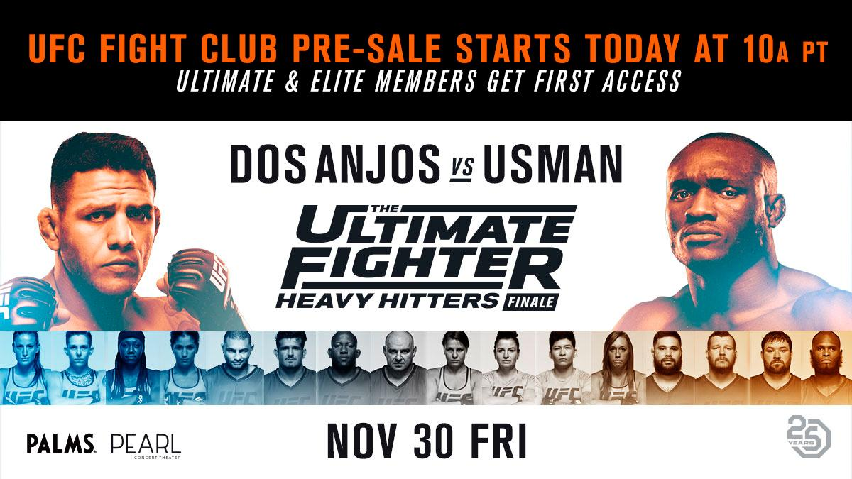 Get your seats for #TUF28 before anyone else. The @UFC Fight Club pre-sale is LIVE. 🎟 bit.ly/2DU15Xu