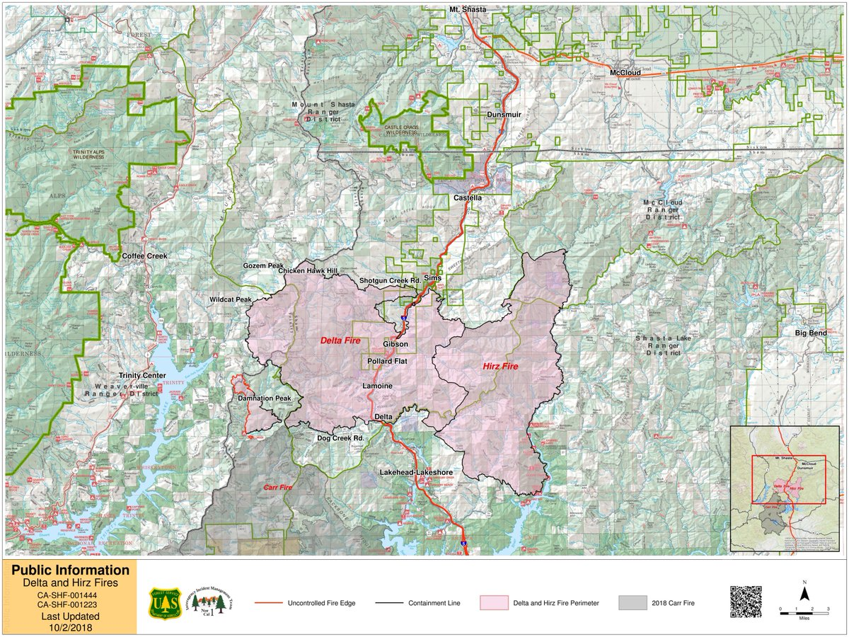 Shasta Trinity Nf On Twitter Delta Fire Daily Update And Map For