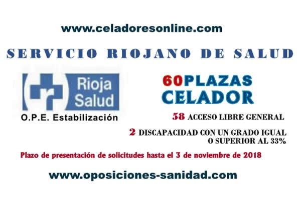 Convocatoria de 60 plazas de Celadores/as del SERIS - Servicio Riojano de Salud... Doma-DdXsAIEdHb