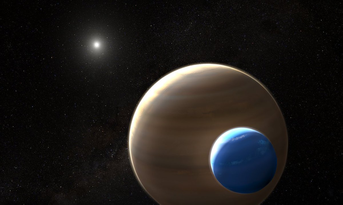 #Hubble finds compelling evidence for a moon outside the Solar System. The data indicate an #exomoon the size of #Neptune, in a stellar system 8000 light-years from Earth. Read more at the link below. https://t.co/dWuumJfVC2 Credit:  ,