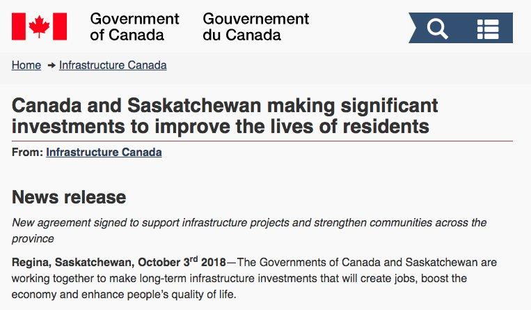 Fcm On Twitter Todays Goc Saskatchewan Infrastructure Agreement