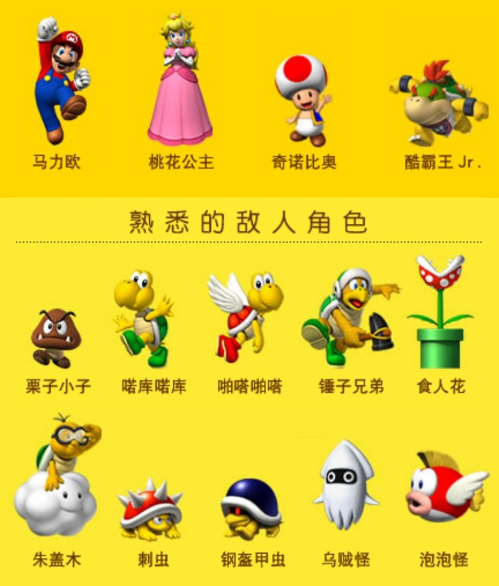 Chinese Nintendo On Twitter Character Names In S Chinese
