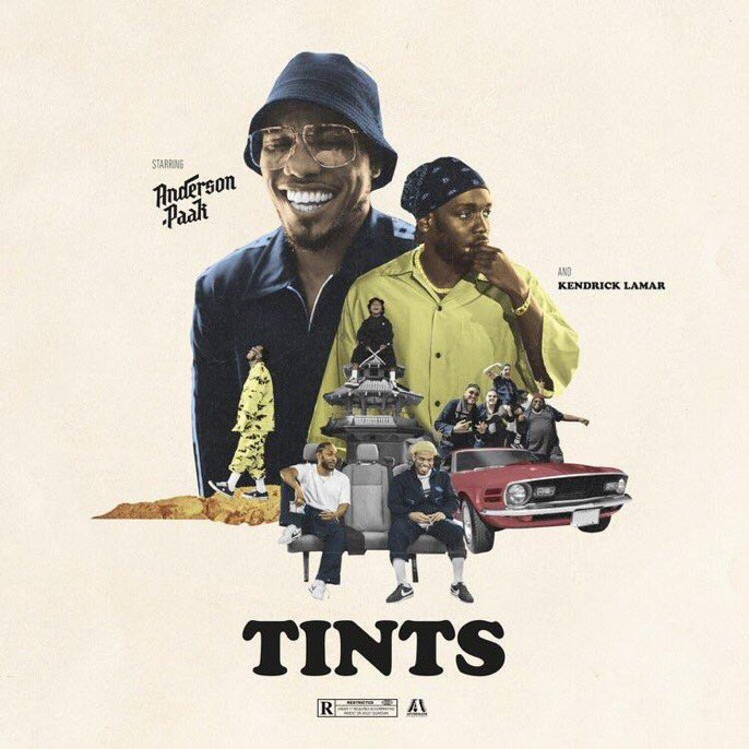 "Anderson Paak ft. Kendrick Lamar - ""TINTS' dropping tomorrow"