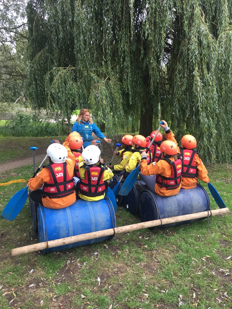 Raft building was lots of fun! Well done everyone!