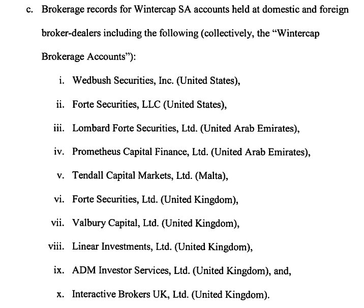 DD Support Board and Research Team: The brokers used were