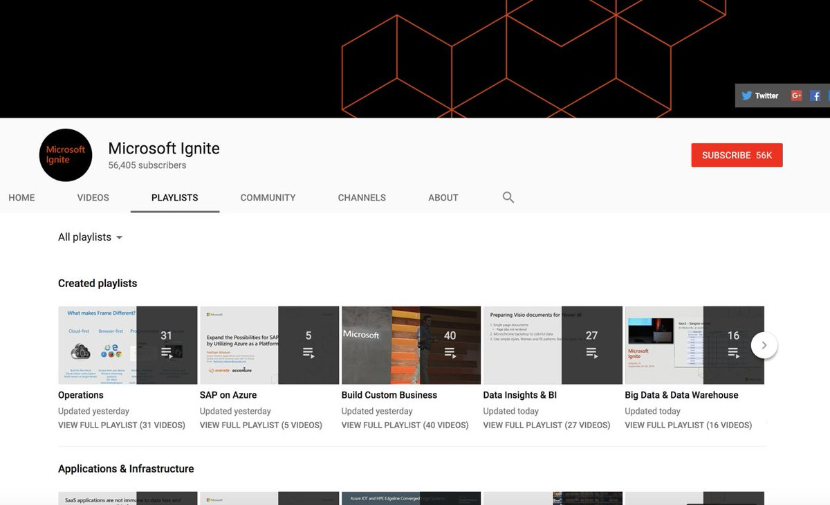All the #MSIgnite session recording in a handy overview: https://t.co/Jwg0dE2zhX >> byebye weekend :D https://t.co/oUPE6XZDZh
