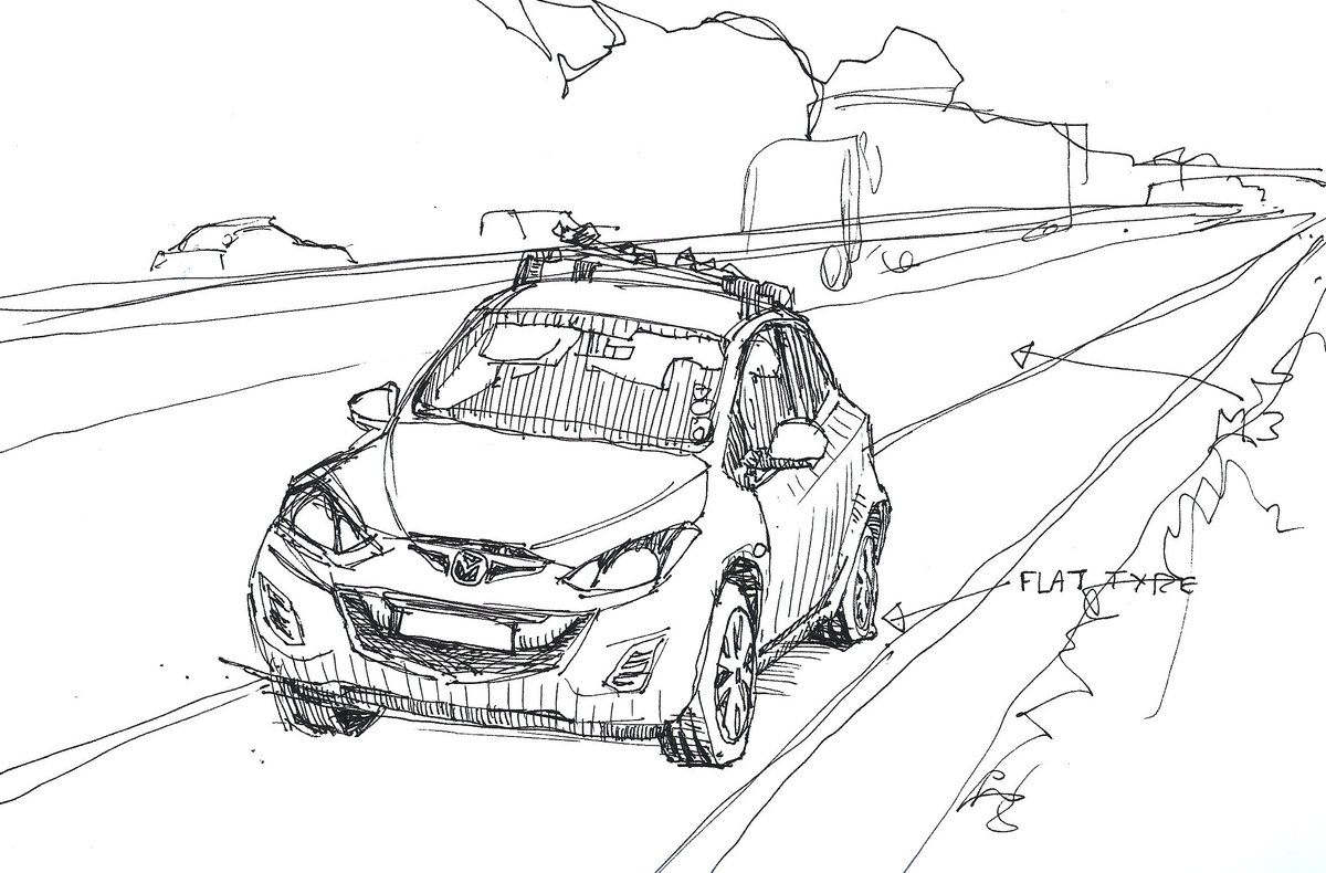 matt wooding on twitter terrible sketch but considering it s of my W Car terrible sketch but considering it s of my car with a flat tyre beside the m3 in rush hour i m going to give myself a pass on quality