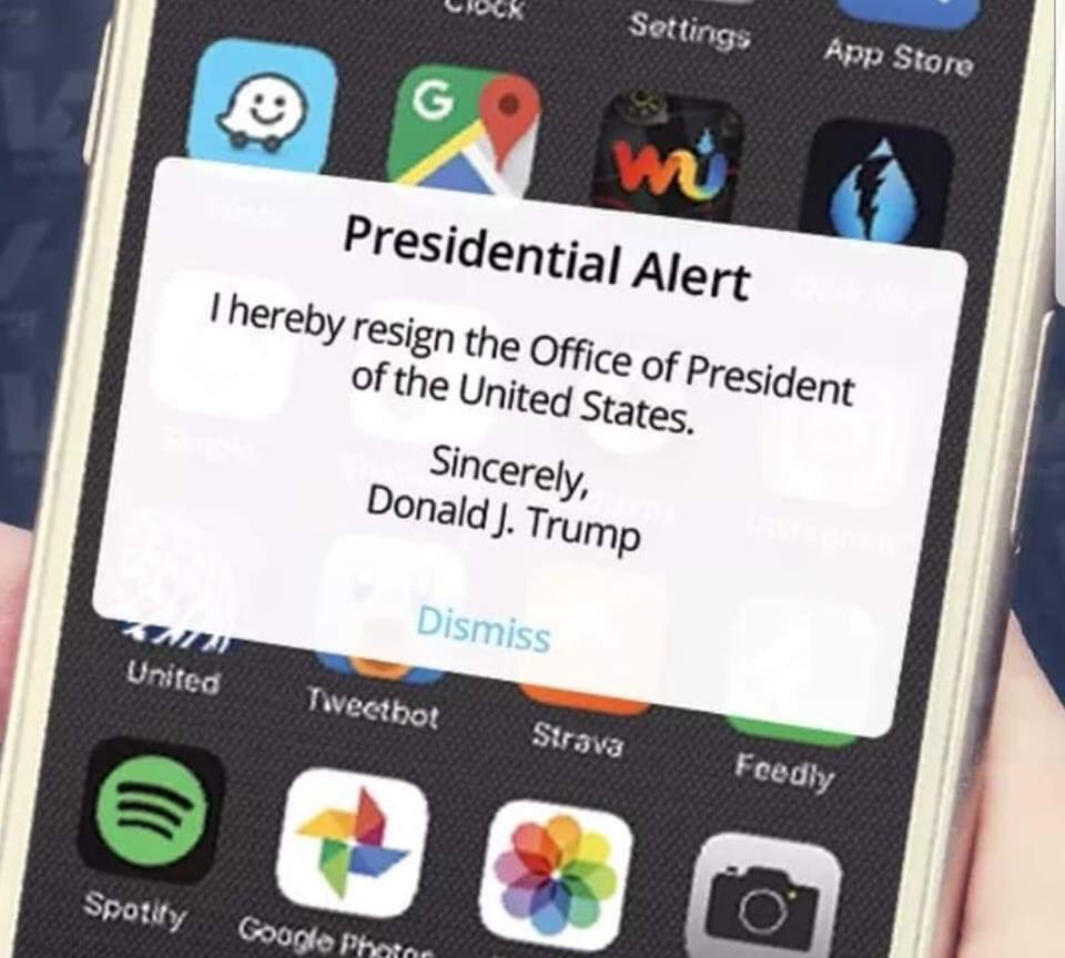 The Only #PresidentialAlert I Want To See 💅🏾