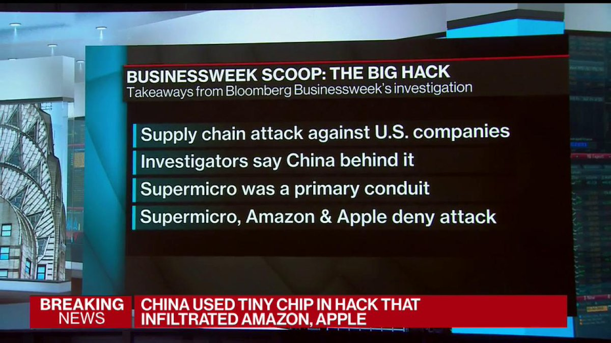 BREAKING China Tiny Chip Hack Infiltrated Amazon Apple