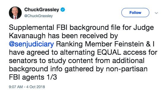 New Senateciary Committee Says It Has Received Fbi Report Onual Misconduct Allegations Against