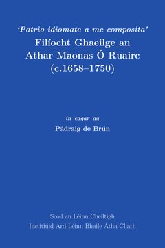 test Twitter Media - Recently launched 'Filíocht Ghaeilge an Athar Maonas Ó Ruairc (c.1658–1750)' in eagar ag Pádraig de Brún is now available from our online bookshop. https://t.co/iNZsfrAcoI https://t.co/nd9woKgC0k