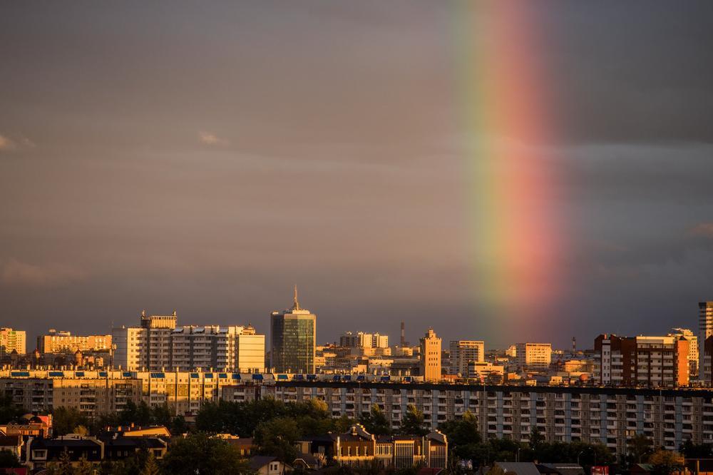 картинки радуга над городом жизни каждой