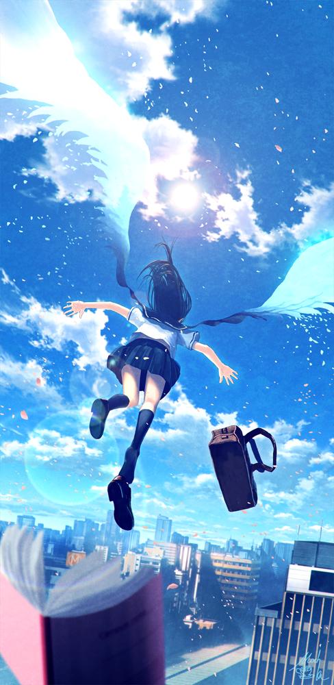 Mocha At 3日目西 O01a On Twitter 天使の日 天使のはしごと空を飛ん