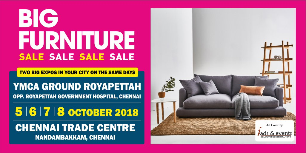 furniture sale ads. The Biggest Furniture Fair Takes Over #Chennai With The Best Of Deals  Than Any Other Show. #sale #discount #furniture #HomeDecorpic.twitter.com/ Furniture Sale Ads