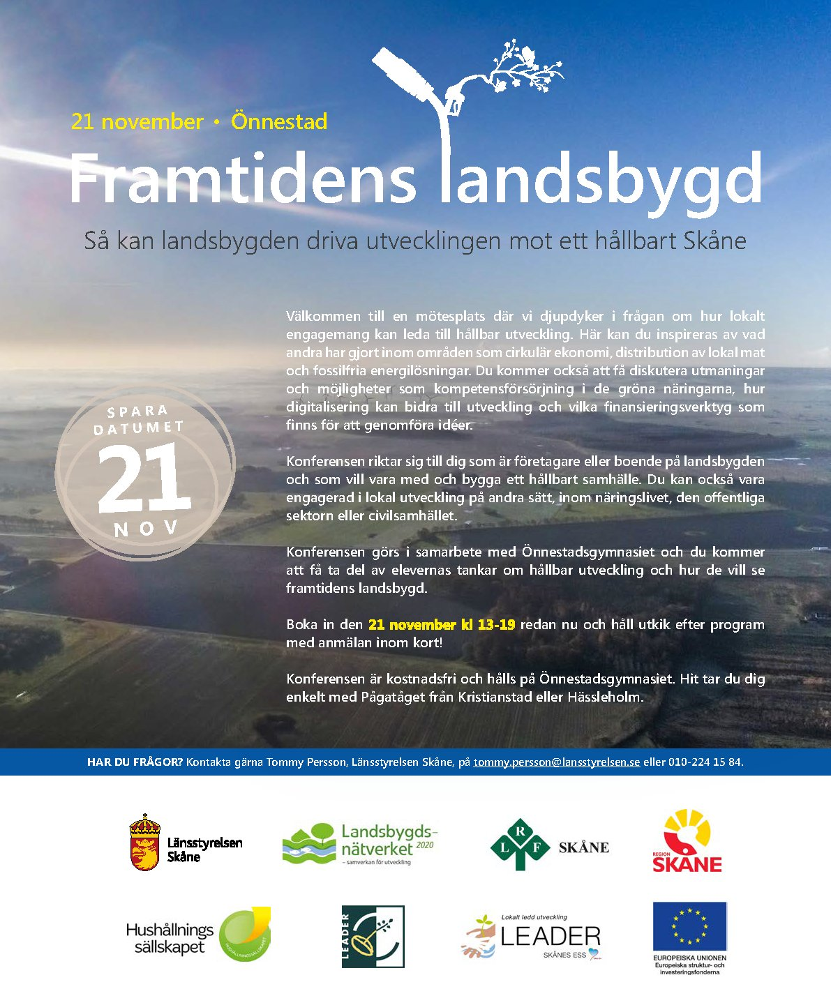 Miljml Lst Skne on Twitter: Save the date! 21 november