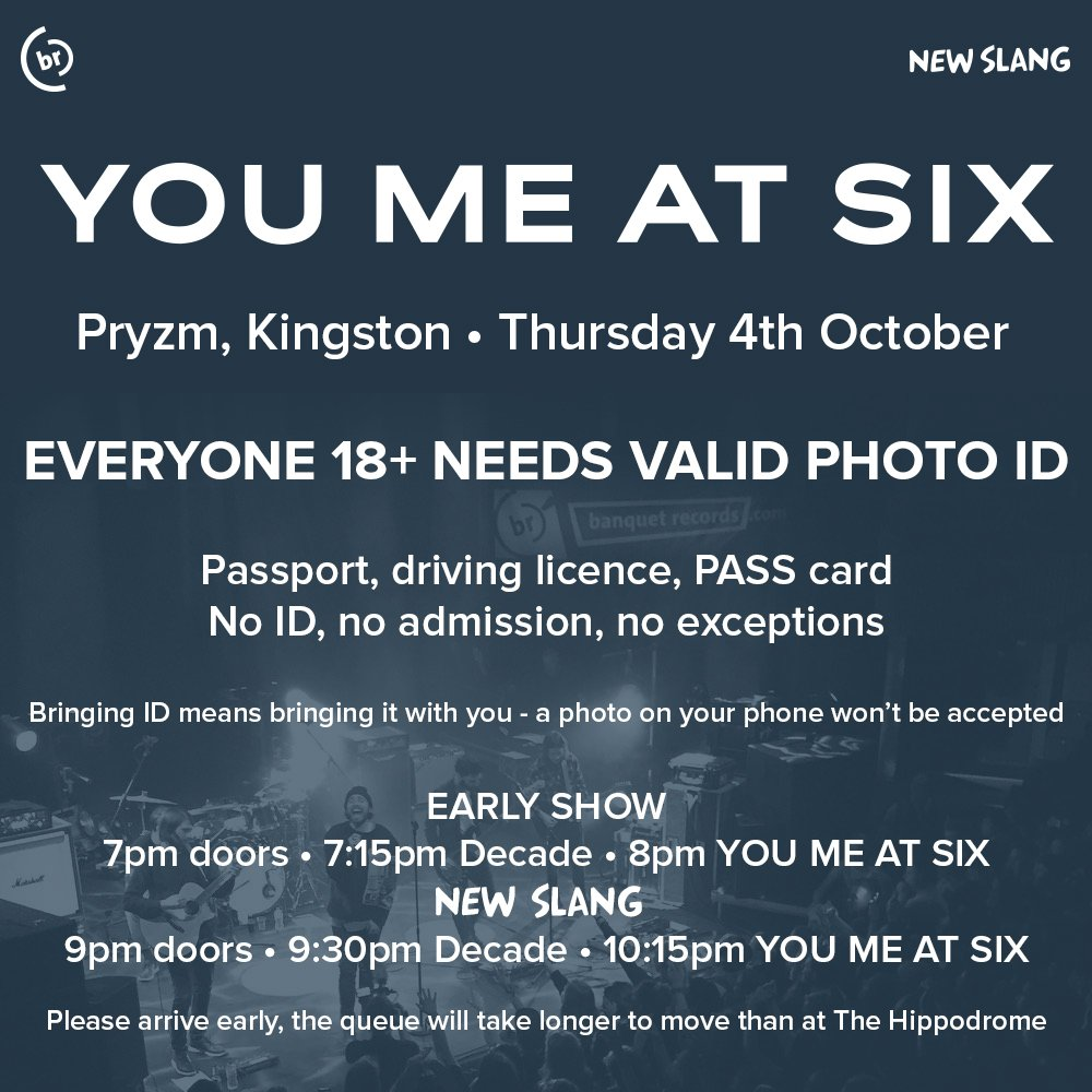 coming to You Me At Six tonight? please read 👇👇👇 https://t.co/rLhwz1jlxR