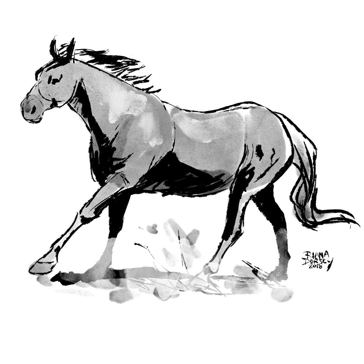 horse horse horse horse horse #inktober #inktober2018