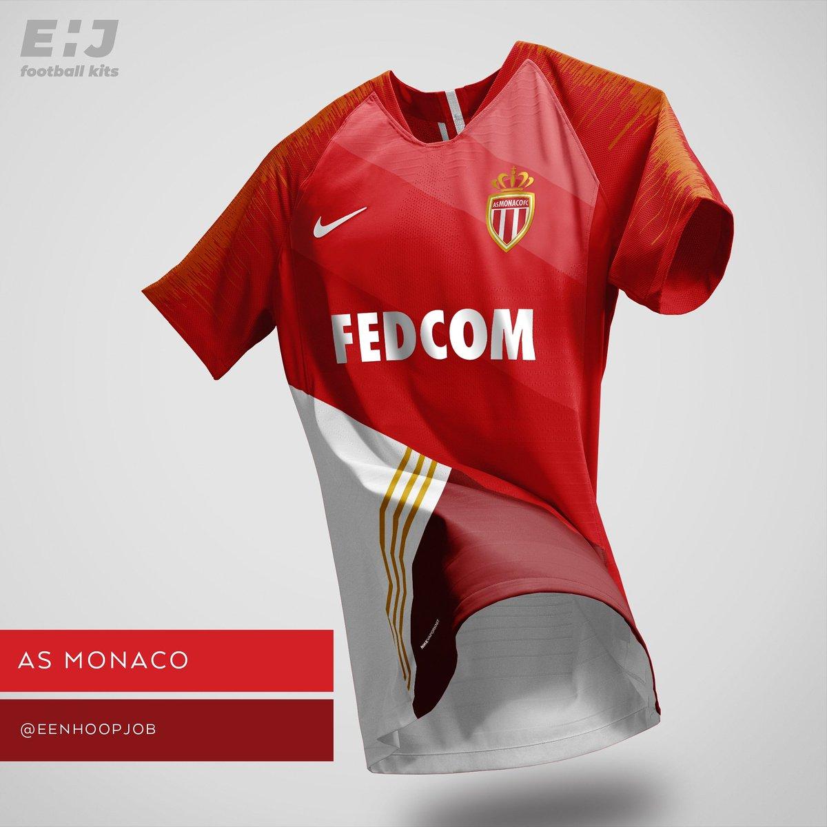 Job Eenhoopjob Football Kit Designs On Twitter As Monaco Home
