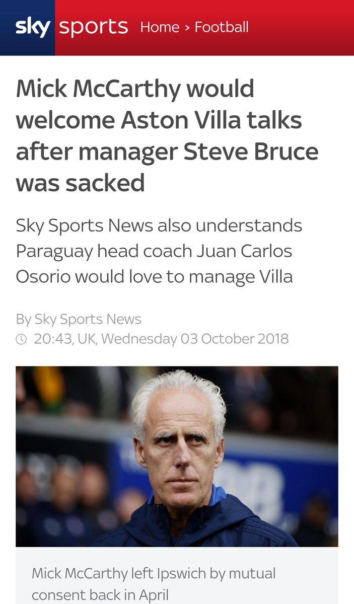 Sky Sports apunta a Juan Carlos Osorio como DT del Aston Villa