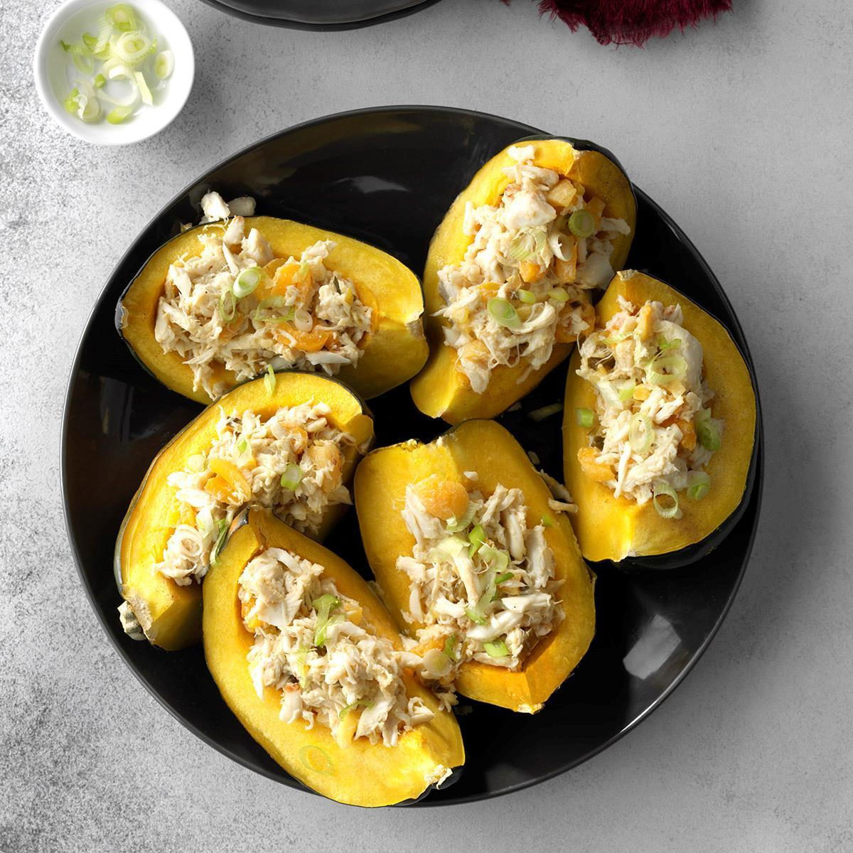Apricot Crab Stuffed Acorn Squash. #recipe #eat https://t.co/9Wtuiqmkw2 https://t.co/AdNyabhmea