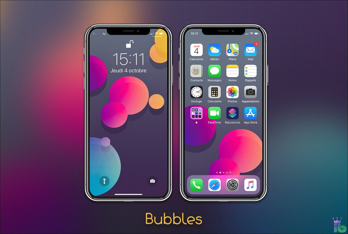 Ibidule On Twitter Update Bubbles For Iphone X Rt Lockscreen