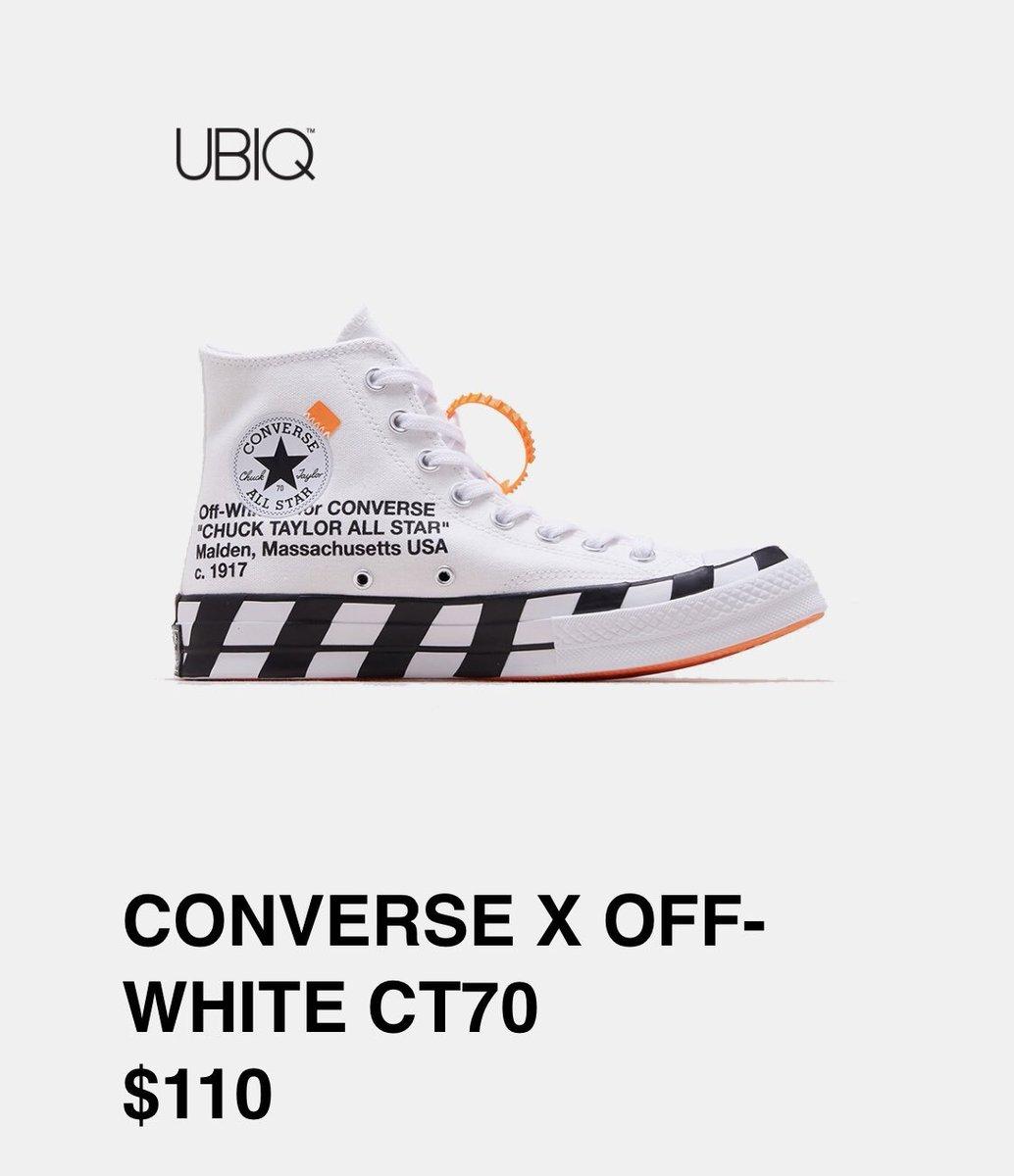 OFF WHITE x Converse Chuck 70 Online Links & Raffles