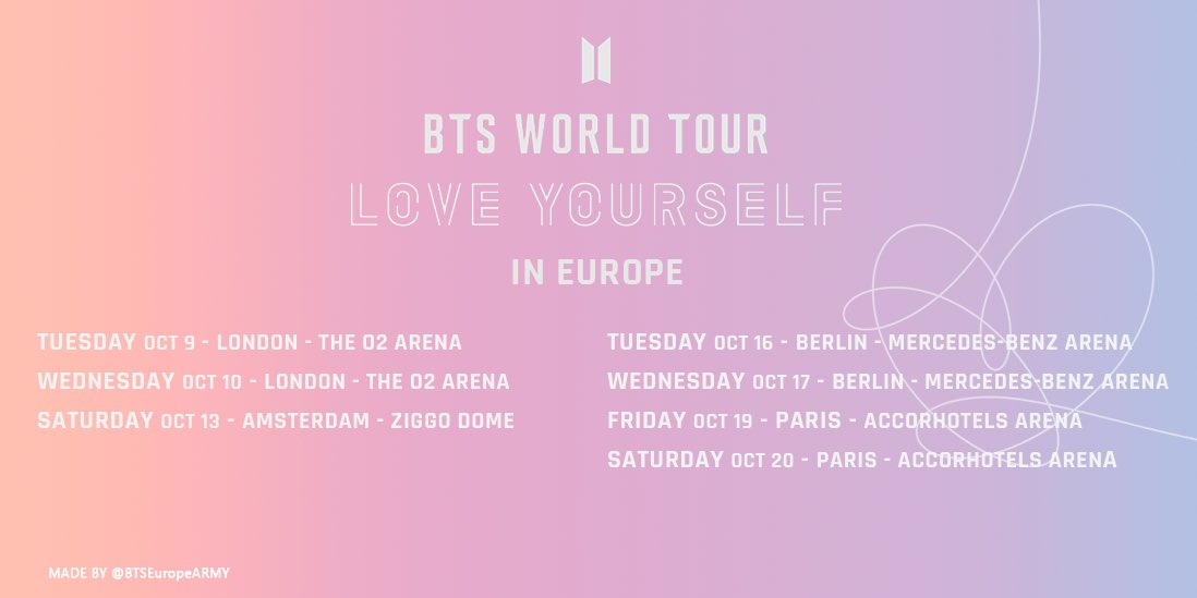 Bts Europe Army On Twitter Bts Twt Love Yourself World Tour In
