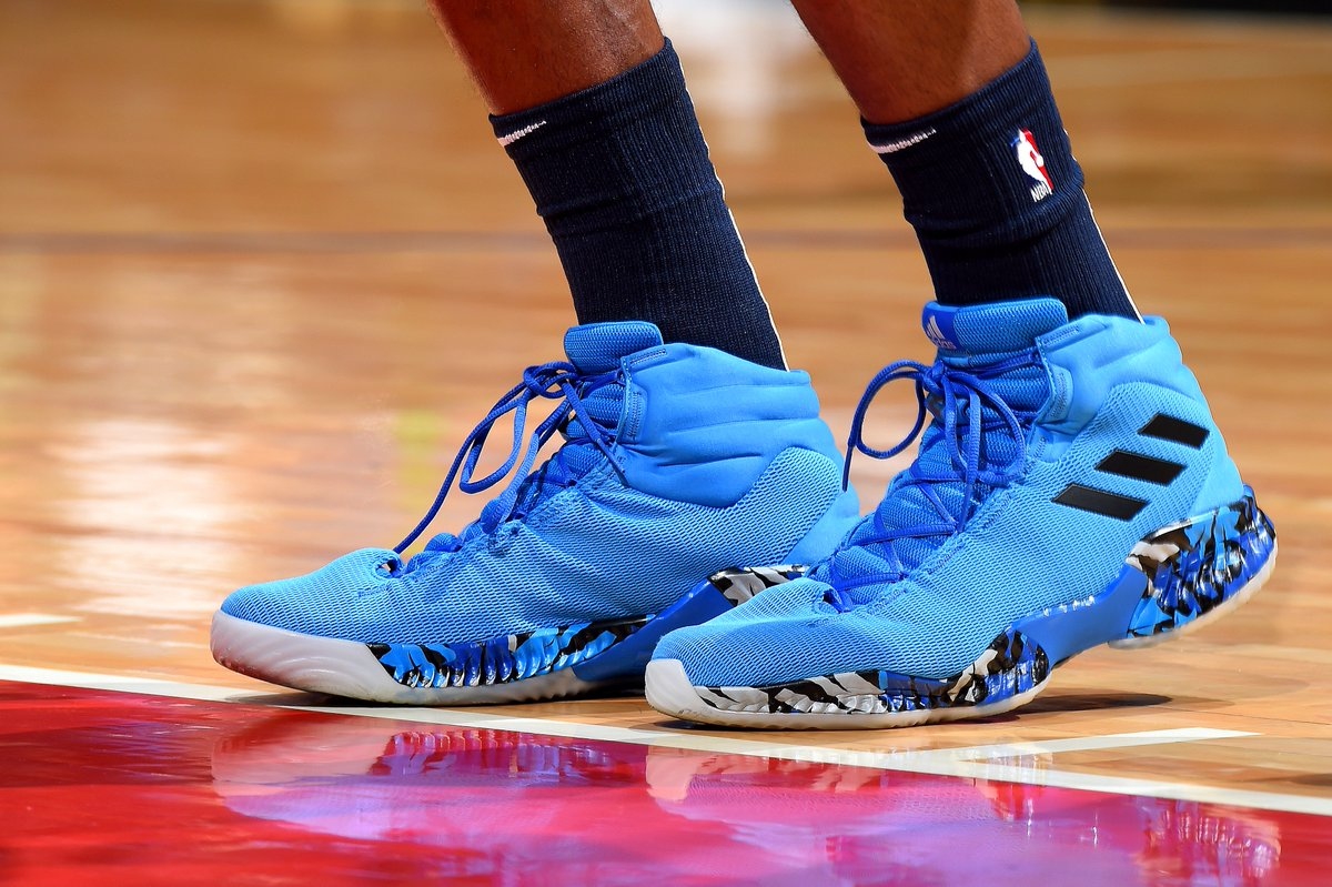 0a0745bfae4 22wiggins rocked the adidas crazy explosive 2018 last night against the  laclippers nbakicks