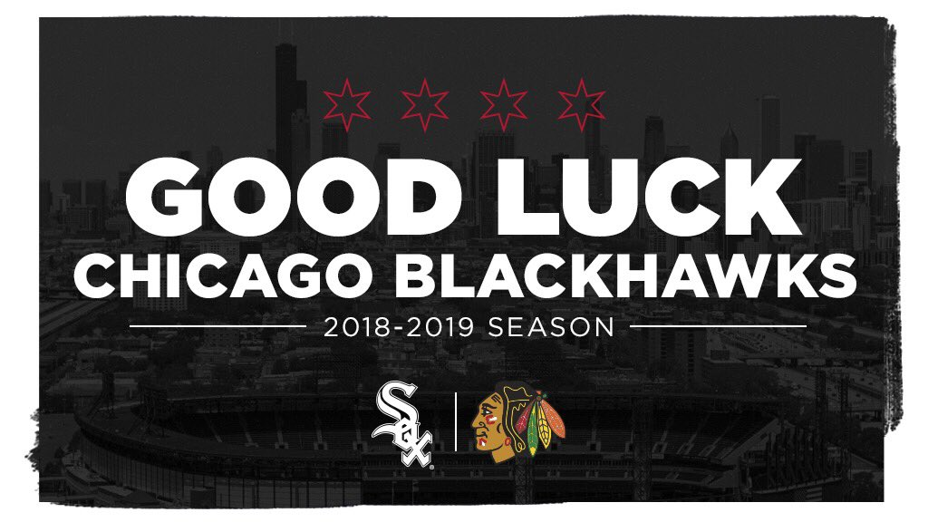 Good luck tonight and this season, @NHLBlackhawks! We are cheering for you. #OneGoal https://t.co/bRQMjjPMDw