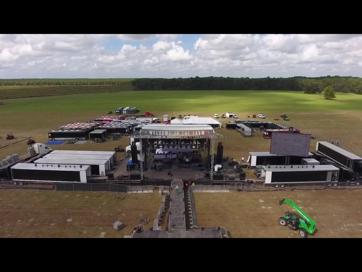 Week 2. Let's go! #FarmTour2018 @djrockd11 @JonTLangston @ThePeachPickers @ChaseRiceMusic