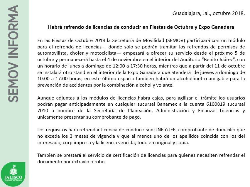 Secretaría De Transporte Jalisco On Twitter Enterate